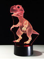 Best Gift 7 Color Changing LED Dinosaur Touch 3D Night Light - COLORFUL