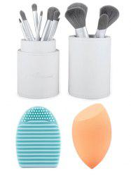 12 pcs Makeup Brushes Kit + Brush Egg + Makeup Sponge