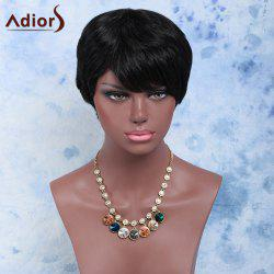 Endearing Short Straight Capless Synthetic Wig - BLACK