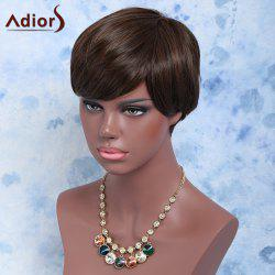 Handsome Short Full Bang Straight Synthetic Wig -