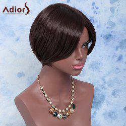 Towheaded Skilful Short Side Bang Straight Synthetic Wig