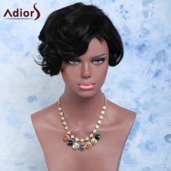 Short Fluffy Pixie Cut Curly Side Bang Synthetic Wig