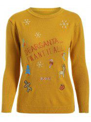Christmas Embroidered Knitted Sweater -