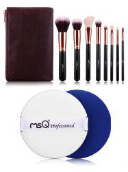 8 pcs Fiber Makeup Brushes Kit + BB Cream Puff -