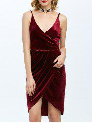 Low Cut Bodycon Surplice Dress -