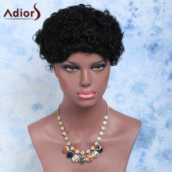 Short Afro Curly Side Bang Cosplay Synthetic Wig