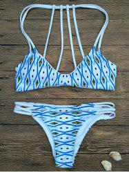 Argyle Strappy Bikini Set