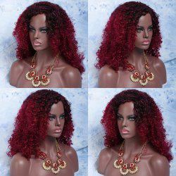 Long Side Parting Shaggy Curly Colormix Synthetic Wig -