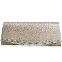 Embellished Beaded Pleated Clutch Bag