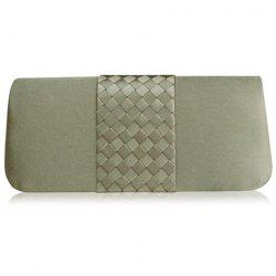 Weaving Flap Clutch Bag - KHAKI