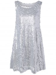 Glitter Sleeveless Sequined Mini Dress -