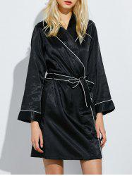 Bowknot Long Wrap Sleep Robe