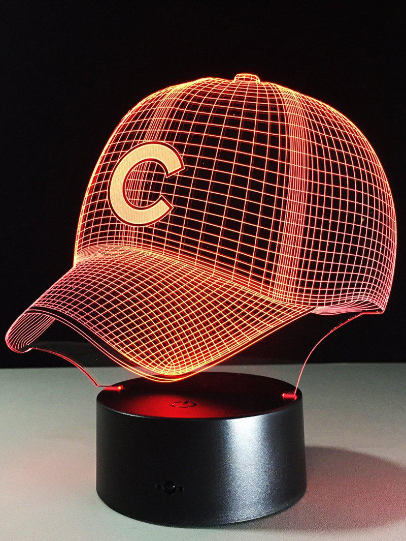LED Colorful Gradient Touch Switch 3D Baseball Cap Night LightHOME<br><br>Color: COLORFUL; Style: Modern/Contemporary; Categories: Light; Material: Acrylic,Plastic; Voltage(V): 5V; Power (W): 3W; Size(CM): 22*13*9; Weight: 0.378kg; Package Contents: 1 x Night Light 1 x USB Cable;
