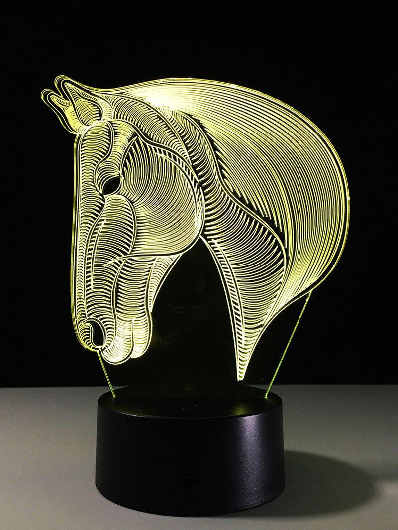 7 Color Changing LED 3D Horse Touch Atmosphere Night LightHOME<br><br>Color: COLORFUL; Style: Modern/Contemporary; Categories: Light; Material: Acrylic,Plastic; Voltage(V): 5V; Power (W): 3W; Weight: 0.378kg; Package Contents: 1 x Night Light 1 x USB Cable;