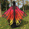 Gradient Color Chiffon Butterfly Wing Cape - RED