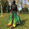 Gradient Color Chiffon Butterfly Wing Cape - GREEN