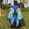 Printed Butterfly Wing Cape Chiffon Scarf - CLOUDY