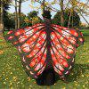 Christmas Snowflake Butterfly Chiffon Wing Cape - RED