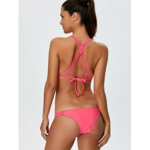 Backless Braided String Plain Bikini -