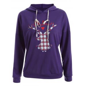 Christmas Deer Drop Shoulder Hoodie