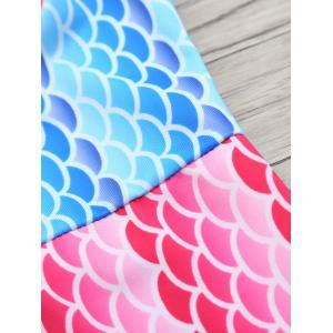 Fish Scale Printed Ombre Tank Top Swimsuit -
