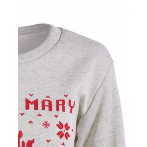 Bloody Mary Christmas Sweatshirt With Reindeer Graphic -