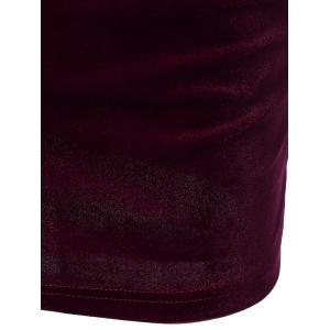 Off The Shoulder Flounce Velvet Dress -