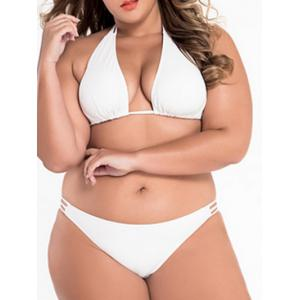 Low Cut Plus Size Bikini Bathing Suit -