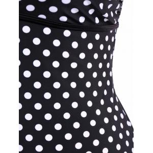 Plus Size Cami Polka Dot Swimsuit -