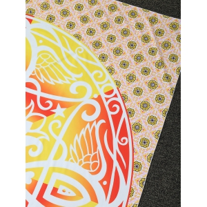Rounded Totem Printed Long Rectangle Beach Throw -