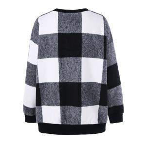 Plus Size Plaid Sweatshirt -