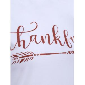 T-shirt de basket-ball ras du cou motif lettre Thankful -