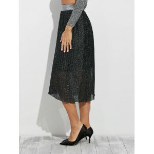 Glitter Midi Pleated Skirt -