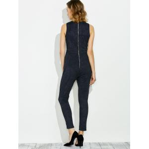 Sleeveless Lace Up Faux Suede Jumpsuit -