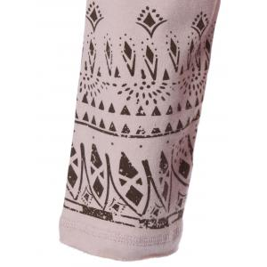 Tribal Print Drop Shoulder Hoodie -