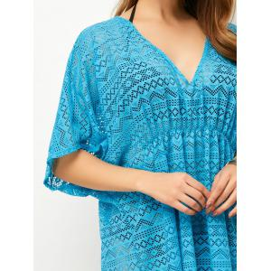 Low Cut Openwork Dressy Tunic Cover Up -