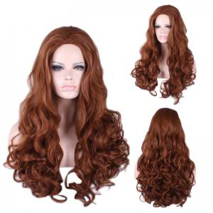 Long Wavy Cosplay Synthetic Wig - Brown - One-size
