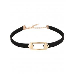 Hollow Out Artificial Leather Velvet Choker