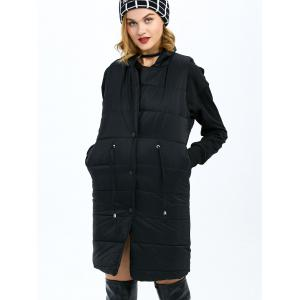 Single Breasted Long Quilted Waistcoat -