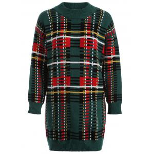 Geometric Jacquard Christmas Jumper Sweater Dress