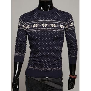 Crew Neck Graphic Christmas Sweater