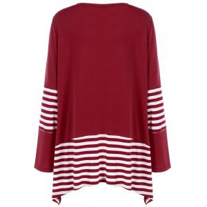 Plus Size Striped Panel T-Shirt -