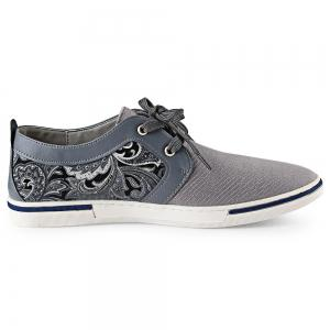 HLA PU Splice Paisley Printed Casual Shoes for Men -