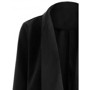 Open Front Shawl Collar Blazer - BLACK XL