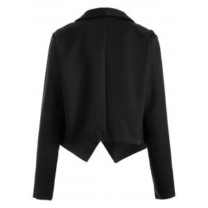 Open Front Shawl Collar Blazer -