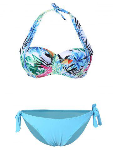 Outfit Self Tie Halter Tropical Bikini
