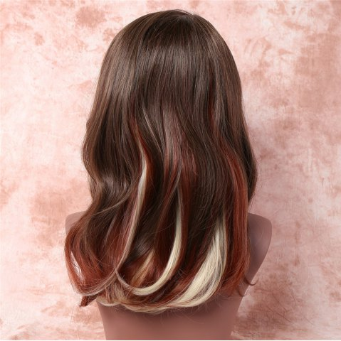 Discount Attractive Three Color Gradient Synthetic Fluffy Straight Medium Capless Wig For Women - OMBRE 1211#  Mobile