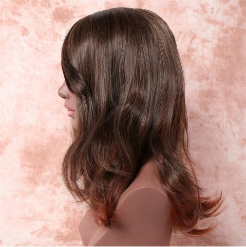 Online Attractive Three Color Gradient Synthetic Fluffy Straight Medium Capless Wig For Women - OMBRE 1211#  Mobile