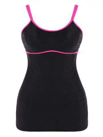 New Plus Size Cami Contrast Two Piece Swimsuit