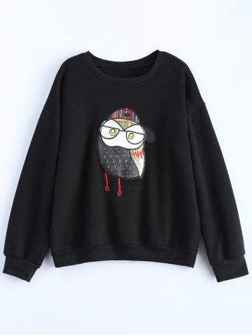 Buy Plus Size Owl Graphic Sweatshirt